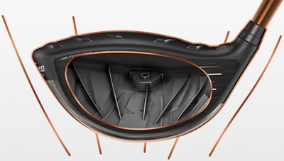 G400 max driver illustration showing internal rib structure
