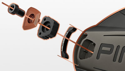 exploded view of tungsten weighting of G400 driver