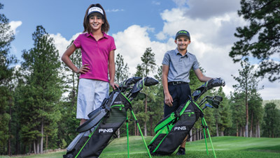 Photo of the two bag sizes of Prodi G junior clubs