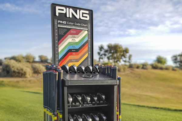 Top of PING Fitting Cart