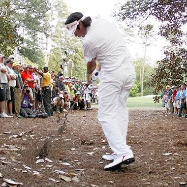 Bubba Watson Hits Memorable Hook from Trees at Masters