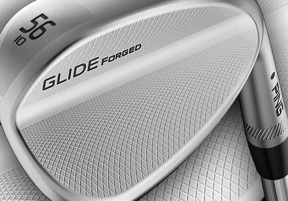 closeup of Glide Forged wedge cavity