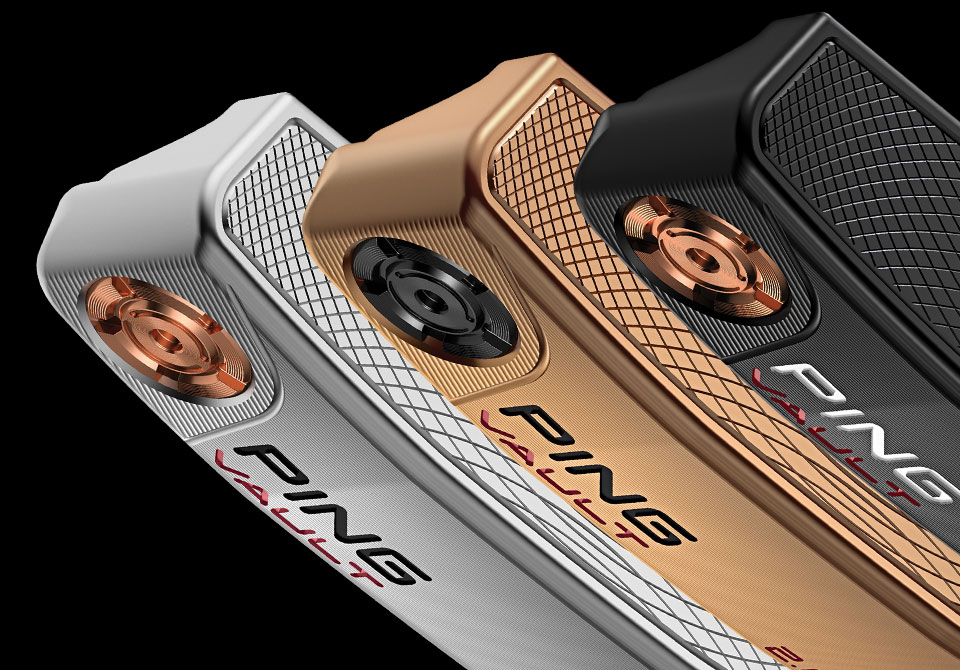 three Vault 2.0 anser models with different finishes