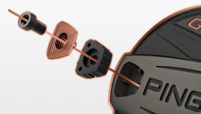 Exploded view of Machined Back Weight in G400 Fairway