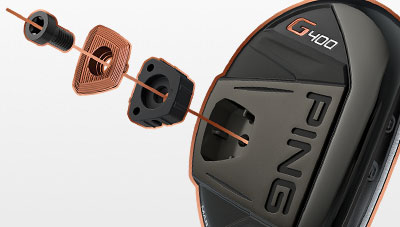 Exploded view of Machined Back Weight in G400 Hybrid