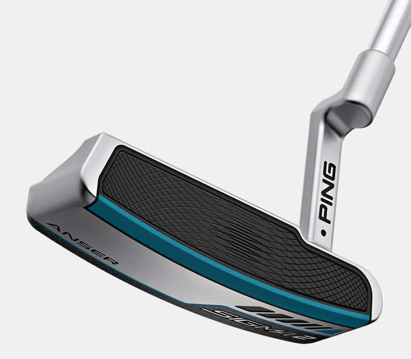 face view of sigma 2 anser platinum putter