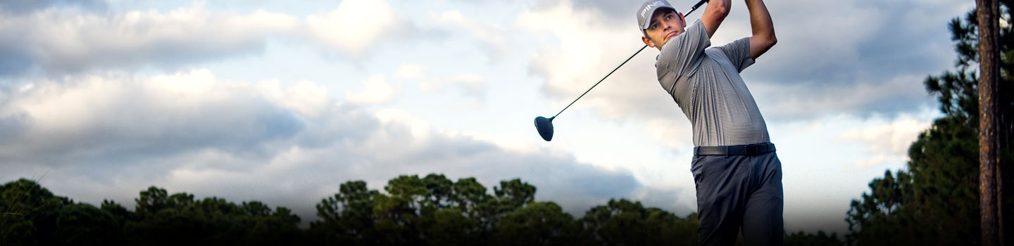 Action shot of PING professional Louis Oosthuizen
