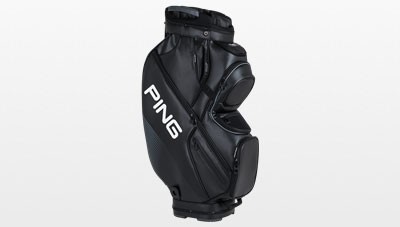 side view of 2017 Black DLX cart bag