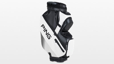 Side View Of 2017 Dlx White Cart Bag