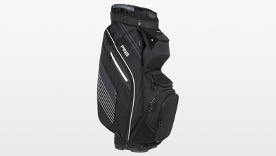 Side view of 2017 Black Pioneer Cart Bag
