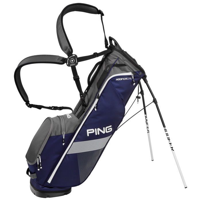 thumbnail of Navy Graphite White Hoofer Lite Carry Bag with extended straps