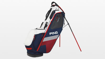 Navy White and Red Hoofer carry bag