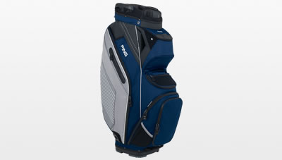 6616fb9430 Navy Silver Pioneer cart bag