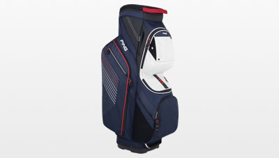 Navy White Red Traverse Cart Bag