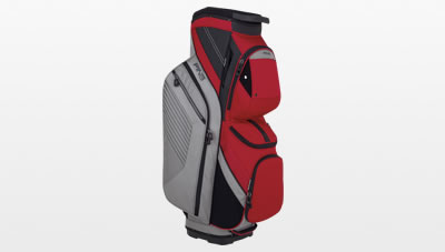 Silver Red Traverse Cart Bag