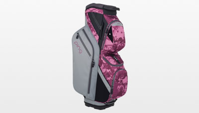 Silver/Dark Magenta Bloom Traverse Cart Bag