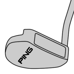 illustration of prototype mallet putter