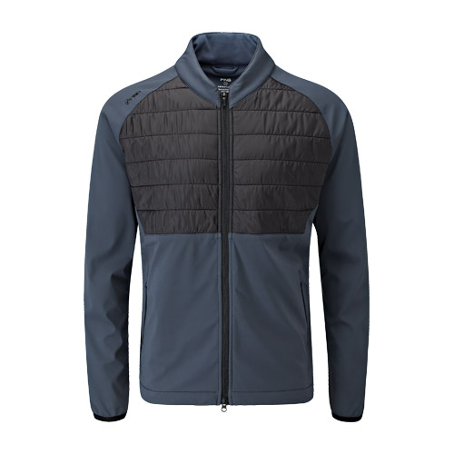 Front image of Norse Primaloft Zoned Jacket Blue Graphite Black