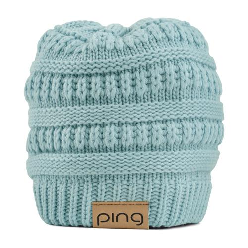 Image of Ladies Ponytail Knit, Teal