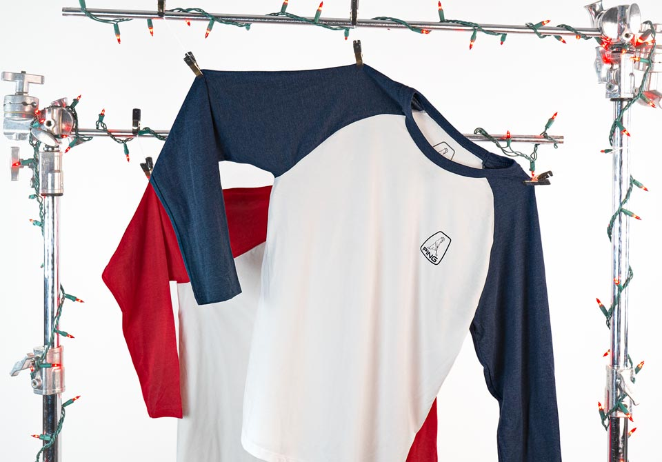 Image of holiday raglan tees