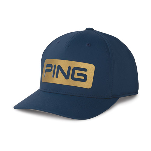 Image of Gold Snapback, Navy