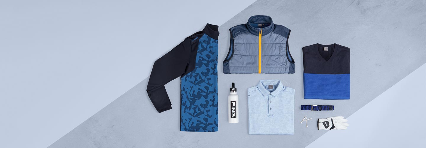 Category page banner image of PING autumn and winter 2021 apparel collection