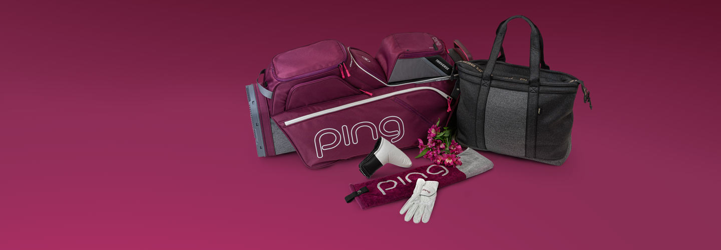Image of PING ladies bag, towel and glove for Mother's day 2021