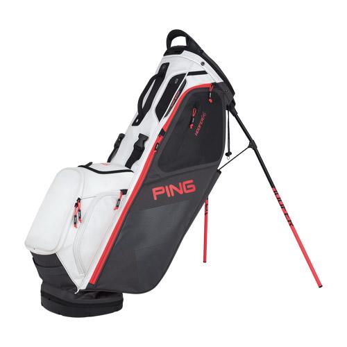 Hoofer 14 Golf Bag - Graphite, Electric Crimson