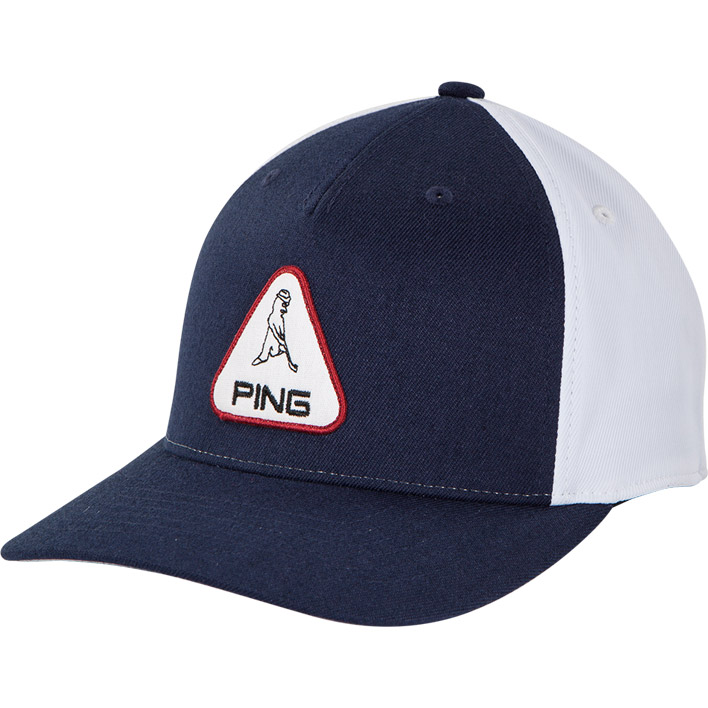 Front view of Mr. PING Patch Cap, Navy colorway