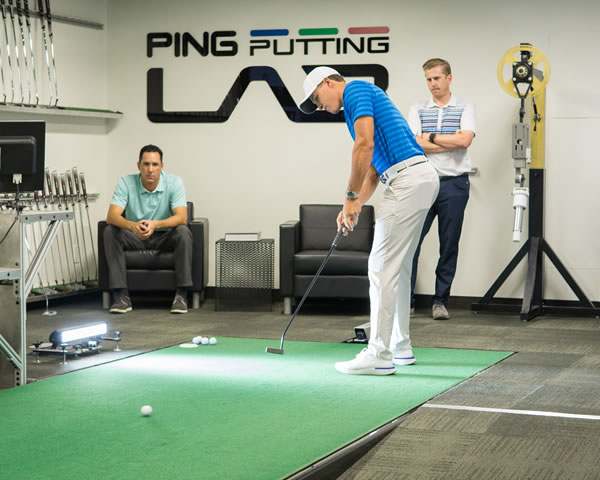 Cameron Champ in PING Putting Lab