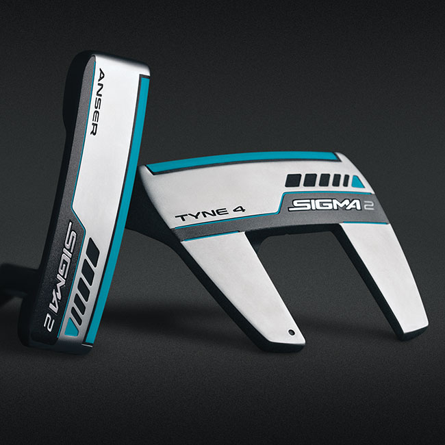 sole views of Sigma 2 Anser and Tyne 4 putter models