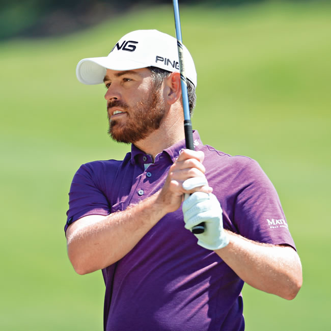 Action shot of PING pro Louis Oosthuizen