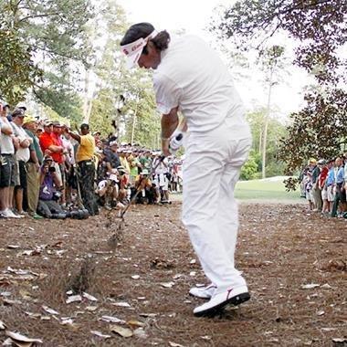 Bubba Watson Hits Memorable Hook from Trees at Masters