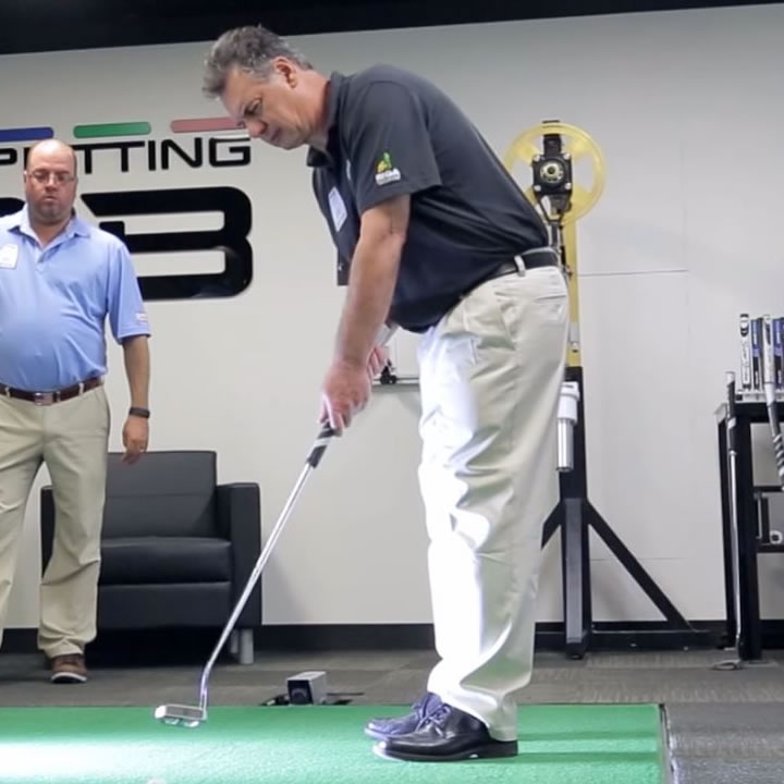 click to view video of blind golfer, Mario Tobia