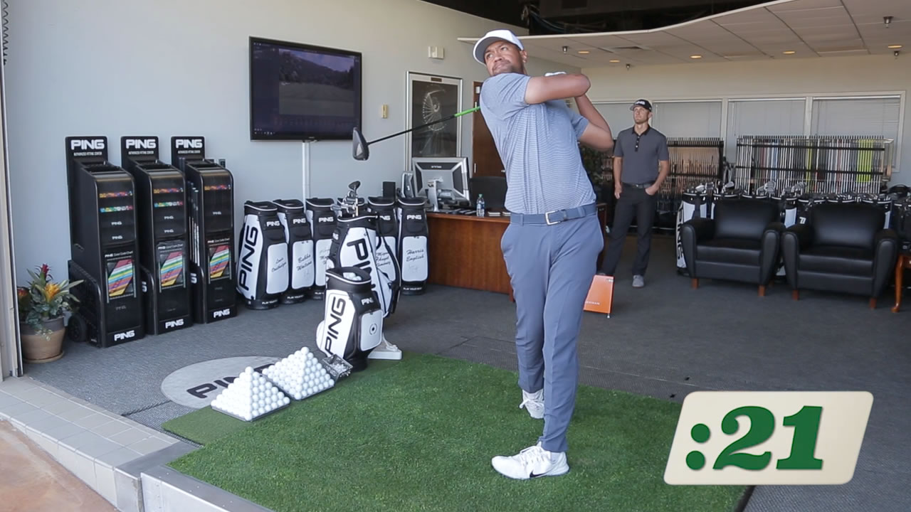 click to watch Tony Finau G400 Max driver video
