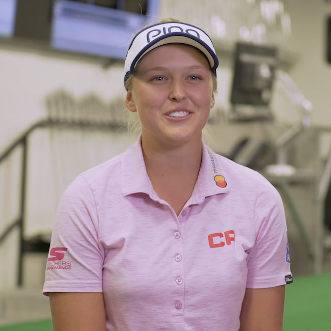 click to watch Brooke Henderson G400 driver video