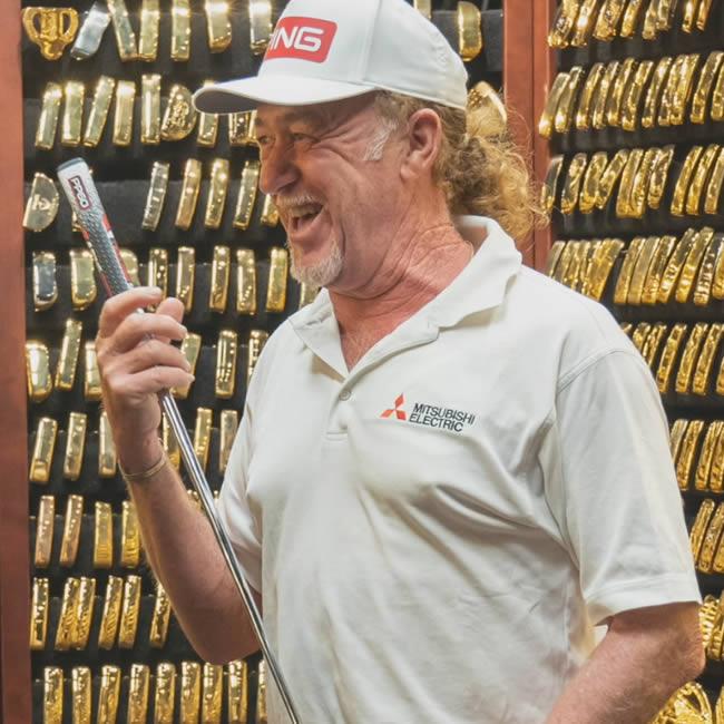 Miguel Angel Jimenez in the Gold Putter Vault